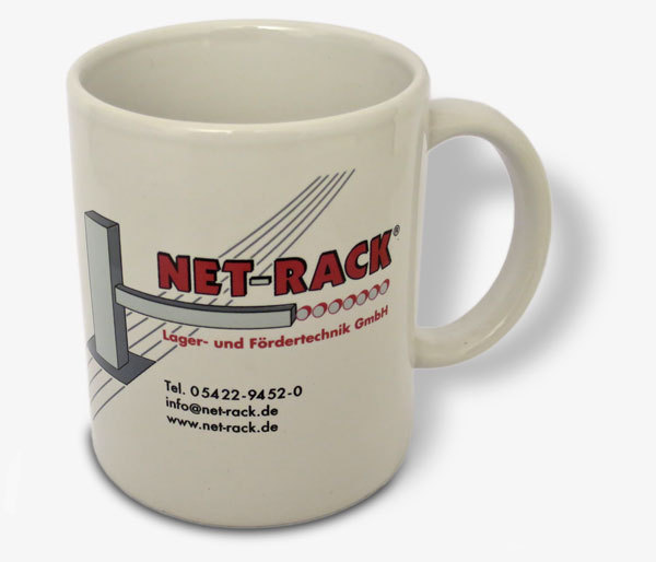 Gratis Geschenk: Eine NET-RACK Tasse.